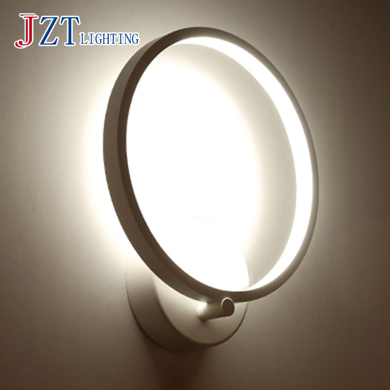 M Modern Circular LED Beside Lamp Iron Lamp Base+ Acrylic Lamp Shade Diameter 20cm Cute and Exquisite Light for Living Room m 2016 newest led acrylic wall lamp real energy saving and environmental protection l26 w13 exquisite and delicate for bedroom