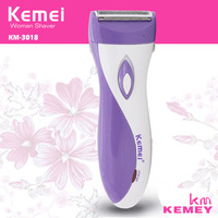 Hot KEMEI Waterproof Electric Shaver For Pubic Hair Women Bikini Underarm Body Lady Epilator Hair Removal
