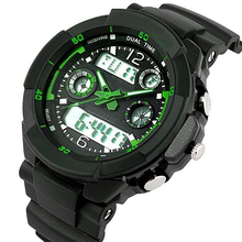 Men Fashion LED Date Outdoor Sport Wrist Analog Digital Waterproof Military Watch