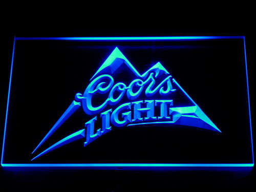 004 Coors Light Beer Bar Pub Logo LED Neon Sign with On/Off Switch 7 Colors to choose