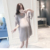 Vestidos de maternidade de verão chiffon vestidos de enfermagem de manga comprida cinza claro roupas de gravidez gravidez vestidos pagode
