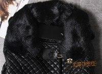 горячая! бесплатная доставка бесплатная ремень кролика воротник женщин с искусственной кожи из зиму пальто дамы верхней одежды 00126 / 36 шт