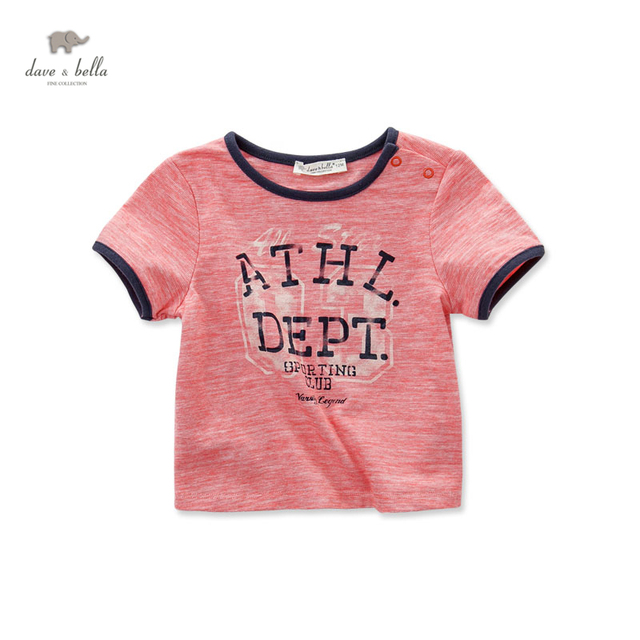 DB3087 dave bella summer baby boy cool soft t shirt infant clothes toddle tees boys striped  tops children T-shirt kid t shirt