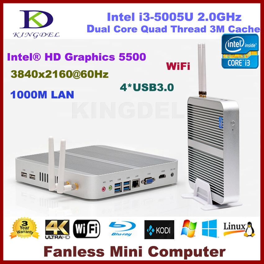 Sin ventilador 8 GB RAM i3 Mini PC 3 años de garantía Nuc ordenador Intel Core i