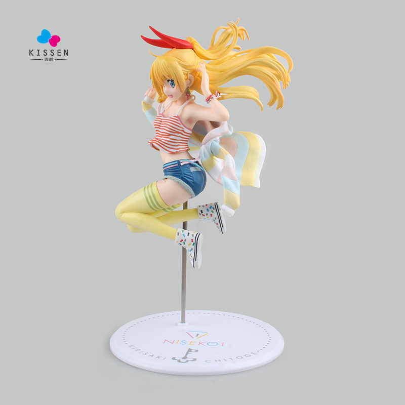 ФОТО Kissen Nisekoi Action Figures Kirisaki Chitoge Model Toys 230mm Anime chitoge kirisaki Juguetes Japanese Anime Figure