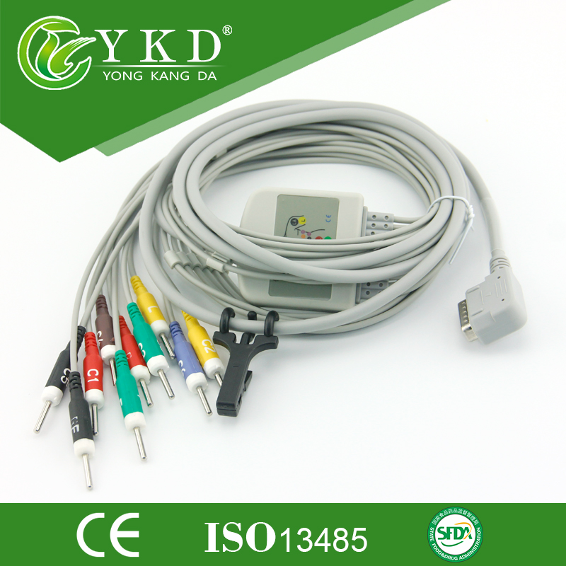 Kanz PC-109 ekg cable 12 channel with IEC Din 3.0 Ending