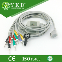 Kanz PC-109 10 Lead EKG Cable with IEC,Din 3.0 Ending
