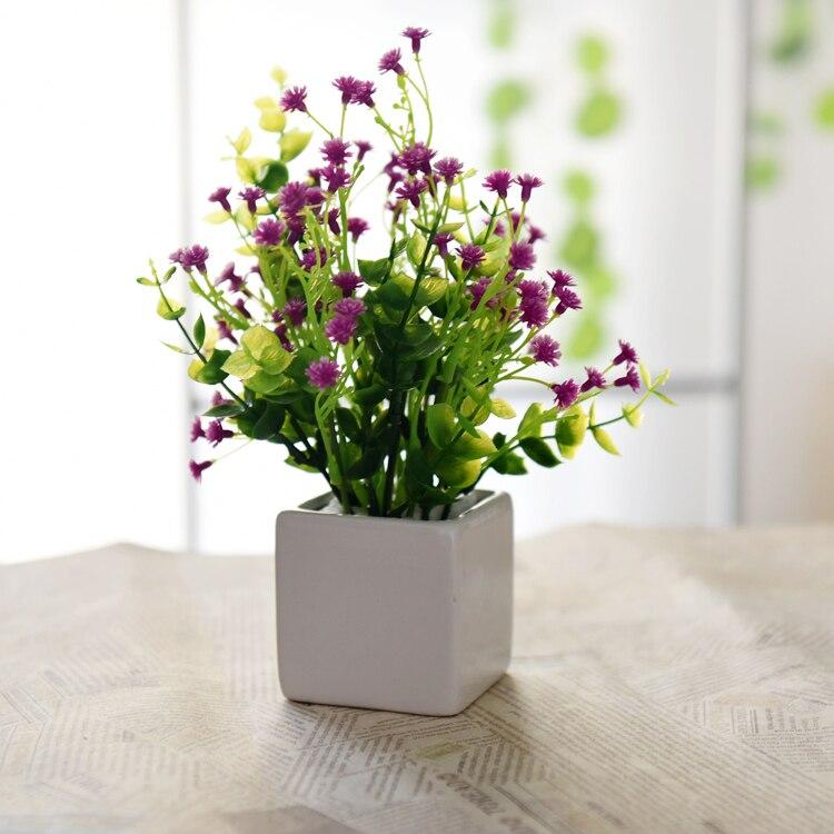 2016 hot sale simulation flower potted plant artificial artificial flowers artificial plants violet home