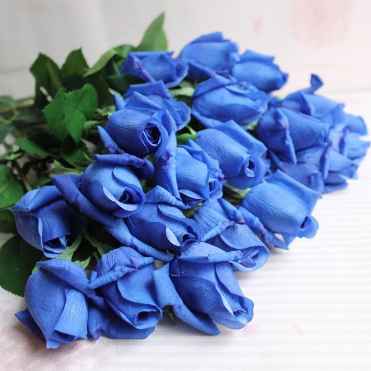 Hoa hồng giả HH-171: Mẫu A - Màu xanh biếc