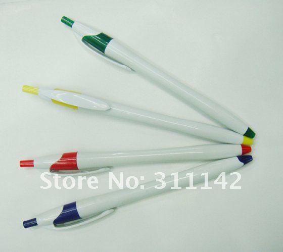 Пластиковая шариковая ручка белые ручки с пользовательским Логотипом Продвижение роликовая шариковая ручка рекламная пластиковая ручка с индивидуальным логотипом