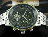 Роско модные авто турбийон мужские мульти функция часы черный