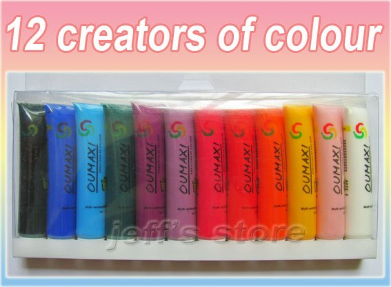 12 colors acrylic paints tube box set for nail art creators of 12 colors acrylic paints tube box set for nail art creators of colour acrylic paint diy prinsesfo Gallery