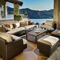 новый дизайн патио глубокие плетеные набор мебели для сидения