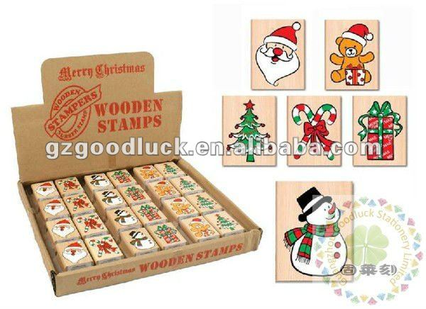 Wooden Toy Stamp2 Christmas Rubber Stamp