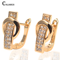 CALABEIS Brand Valentine's Day Gift Elegant Hoop Earrings Brincos For Women With Top Quality CZ zirconia earrings CALL3