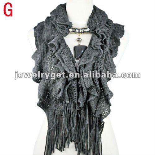 New design!women winter warm waved shaped pendant jewelry scarf  NL-1932 (12).jpg