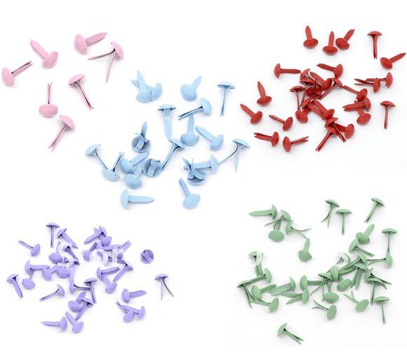 6 мм 500 шт. смешанные цвета Скрапбукинг гвоздей, маленькие круглые гвозди металла Брэд