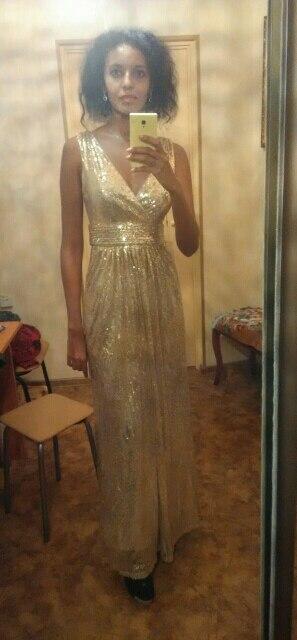 Довольна заказом. Платье очень красивое! Немного сыпятся пайетки, но ставлю пять баллов. Продавец помог определиться с размером и очень быстро отправил заказ. Всем советую этого продавца! На рост 176 и вес 50 отлично подошёл размер 2.