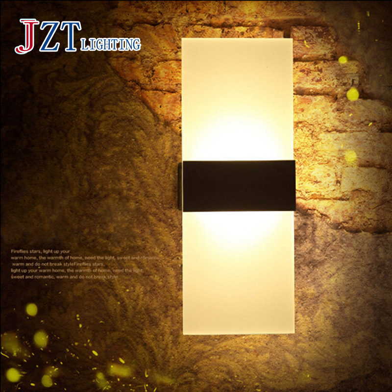 T Simple With LED bulb indoor lights wall mounted Acrylic wall lamps Creative Modern porch lights novelty lighting for corridor