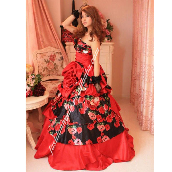 Japan Quinceanera A Line Red One Shoulder Beautiful Low Cocktail