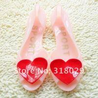 бесплатная доставка хиты распродажа новинка спортивный сандалии Romantic любовь сердца женская Gel рыбы рот сандалии