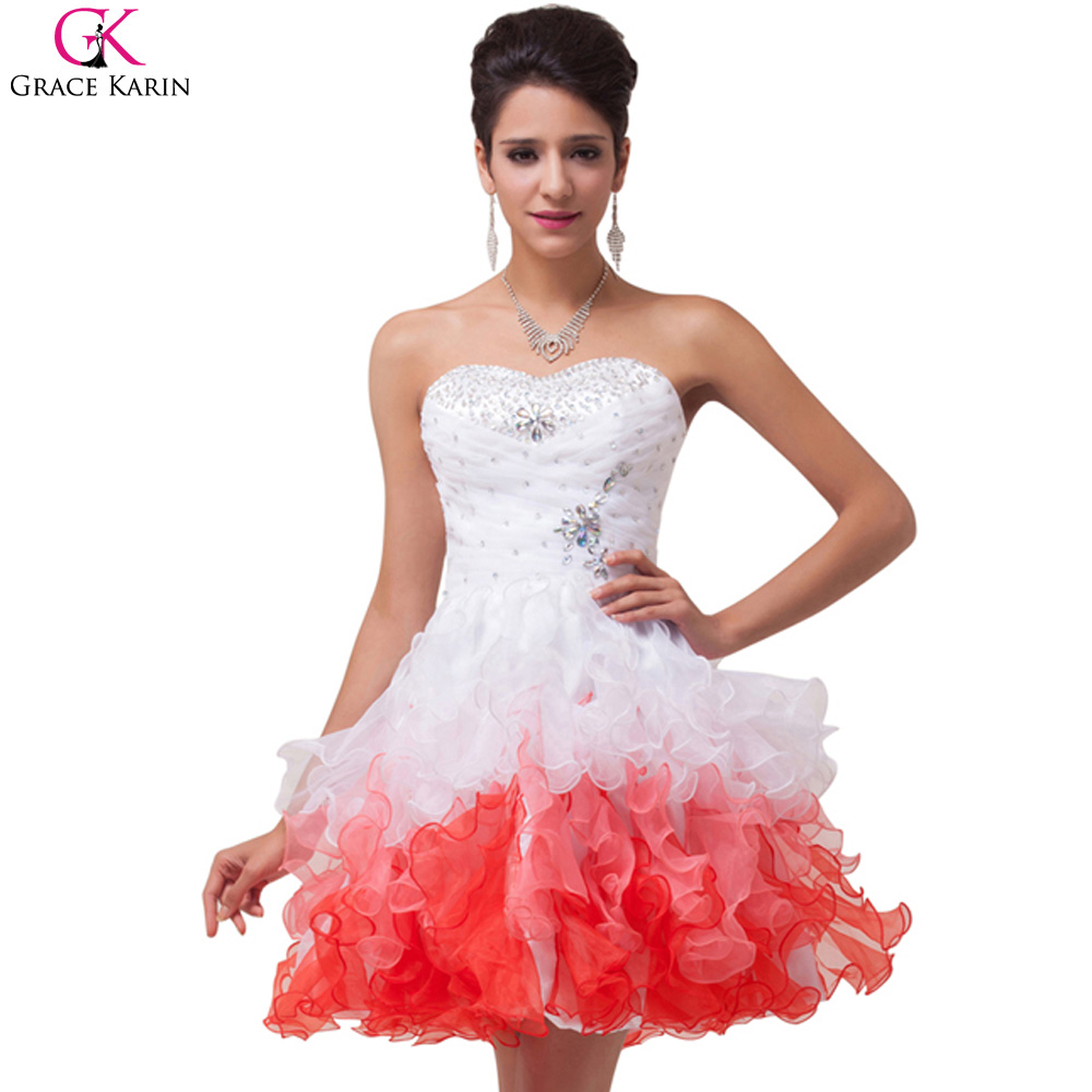 Short Sparkly Poofy Prom Dresses
