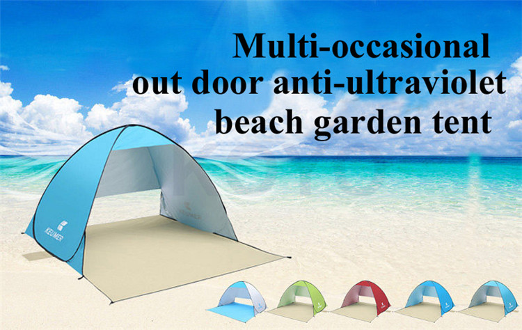 2016 new design beach tent pop up open 1-2person quick automatic opening 90% UV-protective waterproof for camping garden fishing ennjoi fully automatic sun shade tent quick open pop up camping tent beach awning fishing tent outdoor camping hiking beach tent