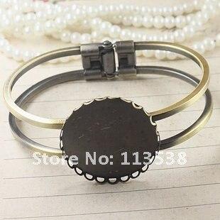 50 шт./лот Бронзовый oval13x18mm коврик филигранный дизайн браслет пустой