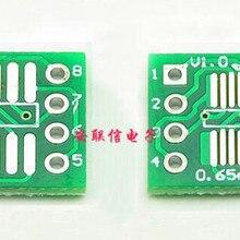 Free Shipping!!! 20pcs sop8 turn dip8 adapter plate / patch transfer line /PCB/0.65MM/1.27/TSSOP /