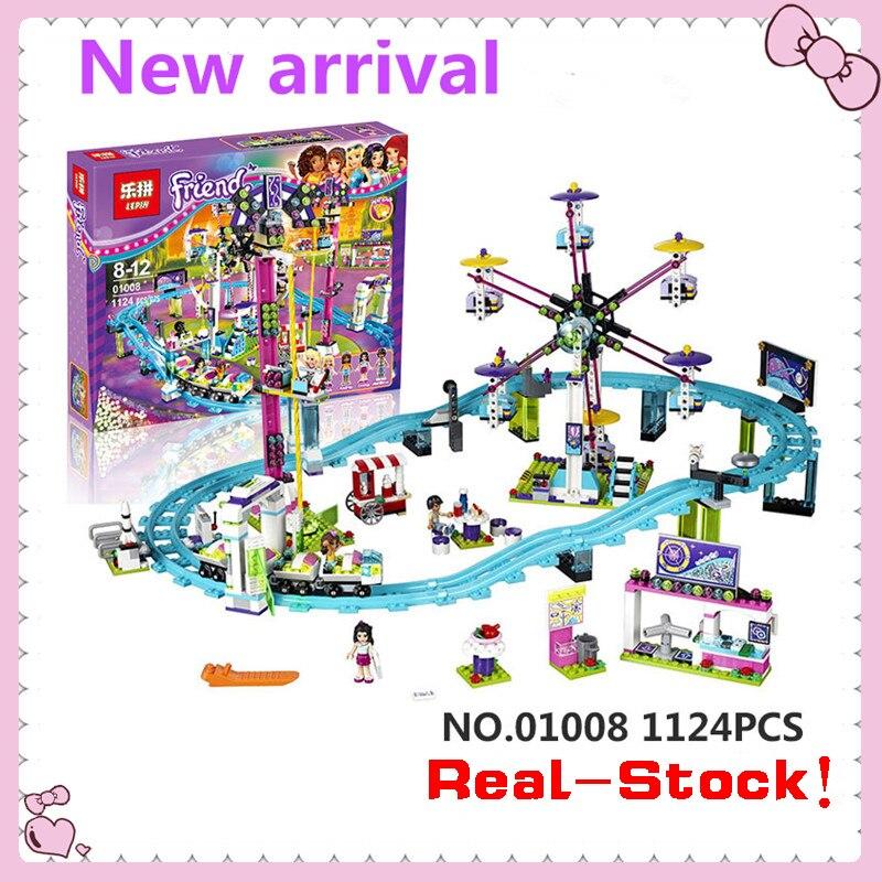 font b LEPIN b font 01008 1124Pcs Amusement Park Roller Coaster Building Block Minifigures Blocks
