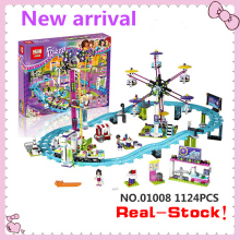 LEPIN 01008 1124Pcs Amusement Park Roller Coaster Building Block Minifigures Blocks Bricks Toys legoe friends for girl 41130