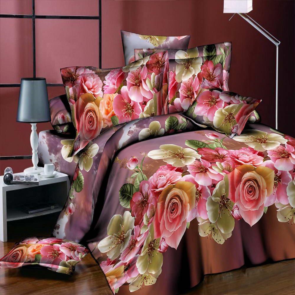 Pink bed sheet design - 2017 New Design 3d Set Style Bloom Beautiful Spring Bedding Sets Duvet Cover Bed Sheet Pillowcase