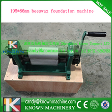 195*86mm roller size beeswax foundation machine cells size5.3 mm 5.4mm all can optional