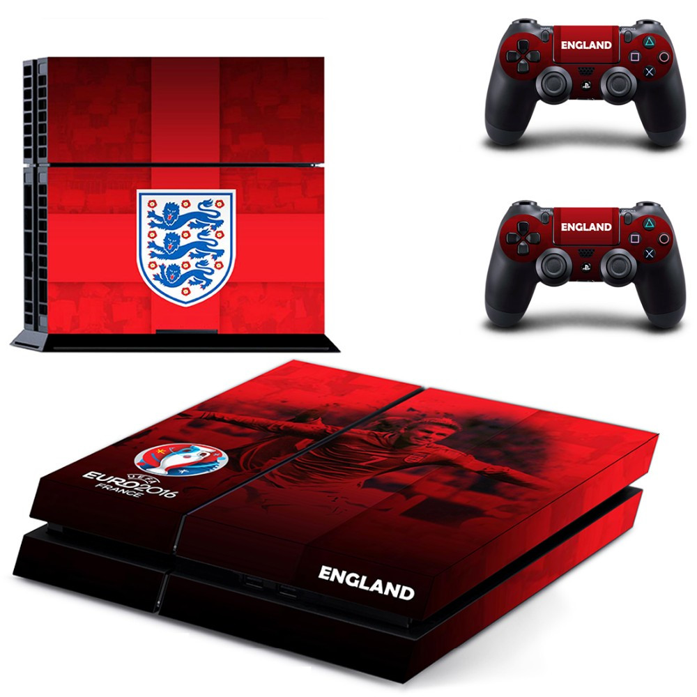 European Football Championship England Team PS4 Skin Sticker Decal For Sony Playstation 4 PS 4 Console and Controllers Stickers