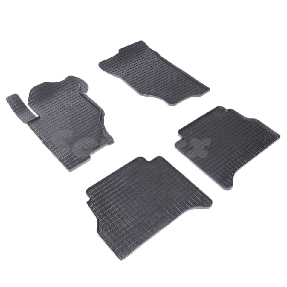 Rubber grid floor mats for Kia Sorento I 2006 2007 2008 2009 Seintex 00130 наклейки для мотоцикла oem 5 cnc suzuki m109r 2006 2007 2008 2009