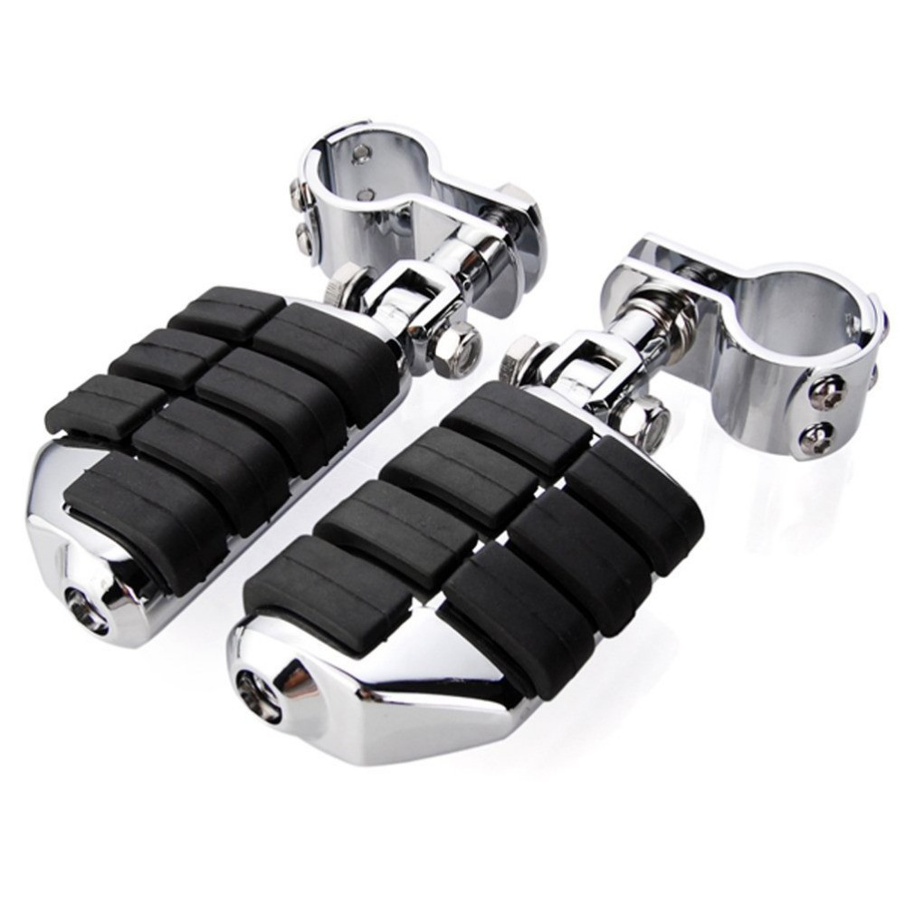 high quality Chrome Billet Dually Foot Rest Highway Pegs 1 1 4 Mount Clamp Kit For
