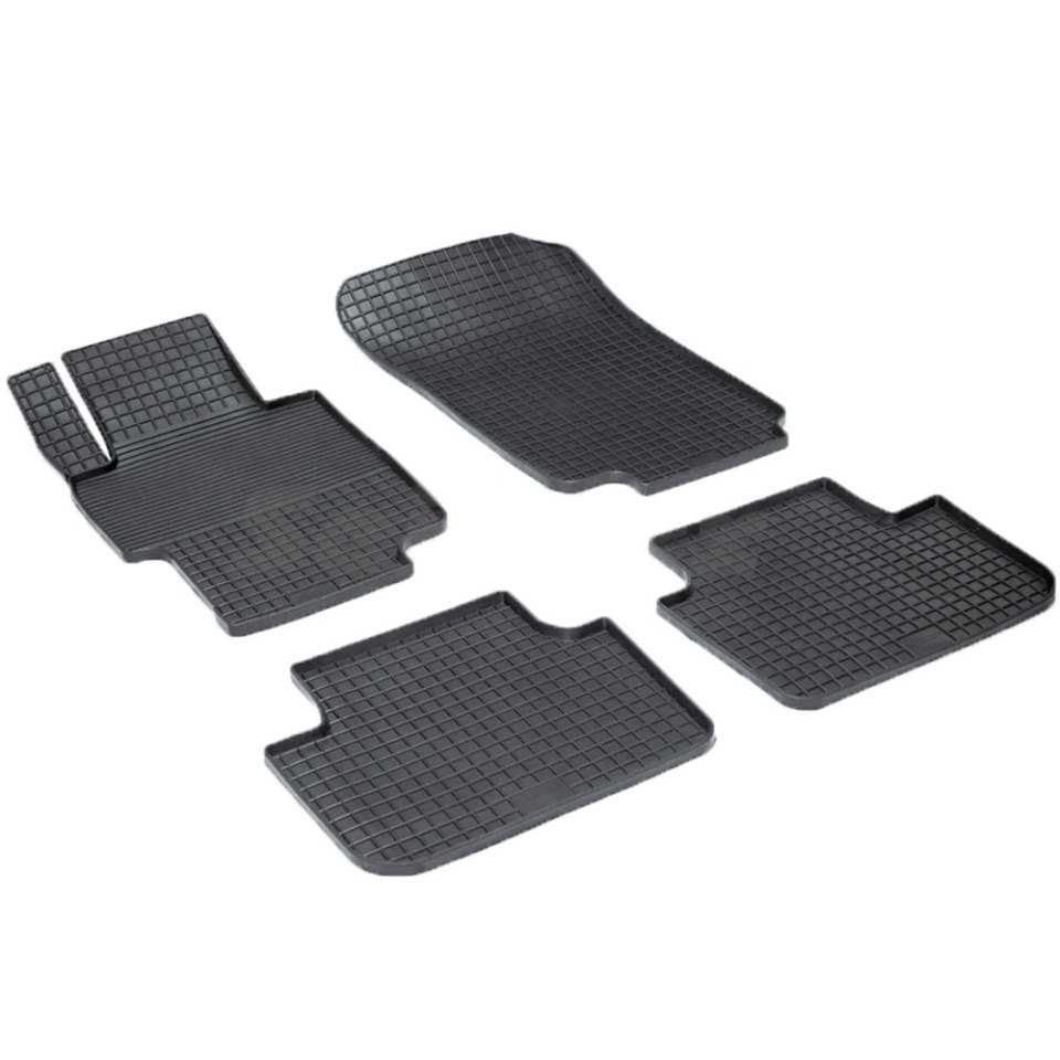 Rubber grid floor mats for Honda Accord VII 2002 2003 2004 2005 2006 2007 Seintex 00546 rubber floor mats for chevrolet niva 2002 2004 2006 2008 2009 seintex 84834
