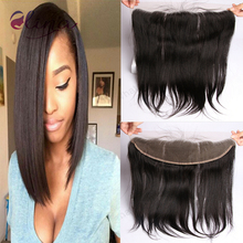 DHL Free 9A Human Hair Brazilian Lace Frontal Closure 13×4 With Baby Hair Free Bleached Knots Virgin Straight Lace Frontals