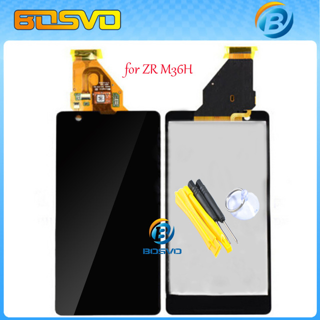 100% Brand new LCD Display with Touch Screen digitizer assembly for Sony for Xperia ZR M36h C5502 C5503 1pcs free shipping+tools