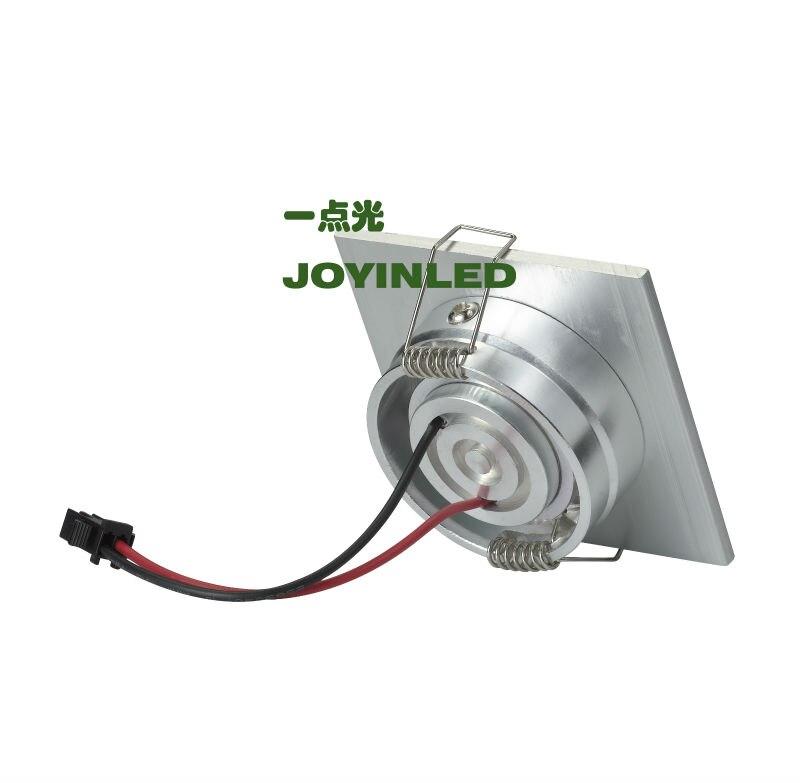 Горячая Распродажа, 3 Вт, высокомощный светодиодный потолочный светильник, серебристый квадратный Мини Светодиодный точечный светильник для гостиной, спальни