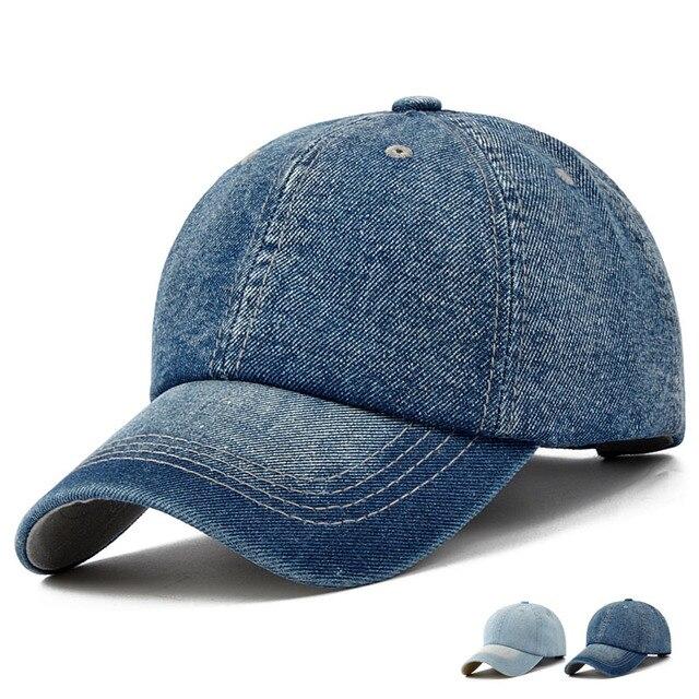 BooLawDee Женщины Мужчины джинсовые бейсболки купол лучших солнцезащитный крем дышащий 55-59 см регулируемый синий черный H41004