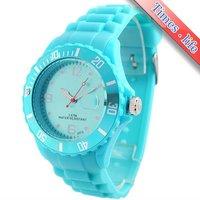 полный синий сочувствие резиновые Doug часы женская девушка дата кварцевые лучший подарок iw2245