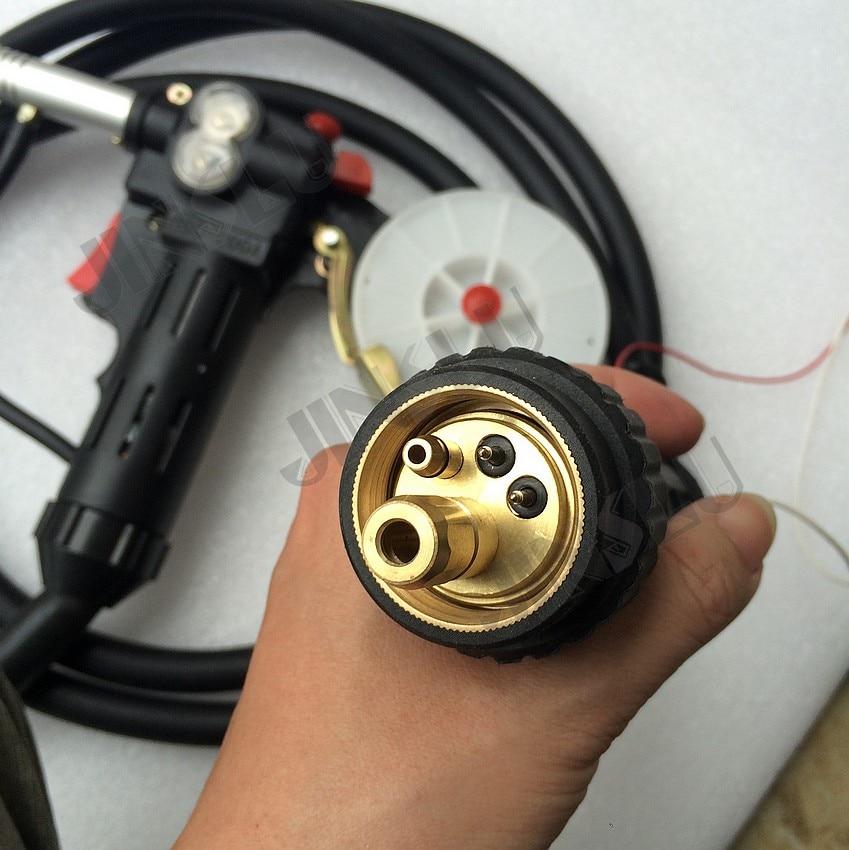 Rouleau denté de corps en Nylon 10 pieds Euro adpateur MIG bobine pistolet poussoir chargeur aluminium acier torche de soudage JINSLU SALE1