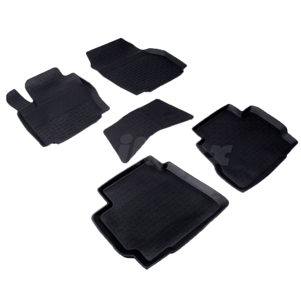 лучшая цена For Ford Mondeo 2007-2014 rubber floor mats into saloon 5 pcs/set Seintex 01311