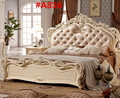 Genuine leather french style bedroom furniture A816