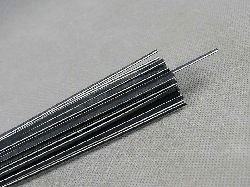 100 Strips Violin Inlay Wood Material Strips /purfling Materials (black+wthie+black)  Strip1.3mm Thick 970mm Long