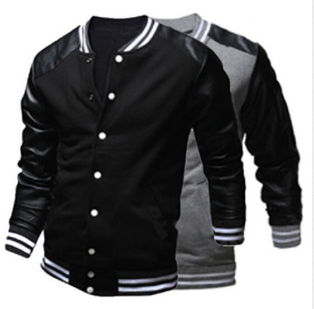Popular Leather Baseball Jacket Men-Buy Cheap Leather Baseball ...