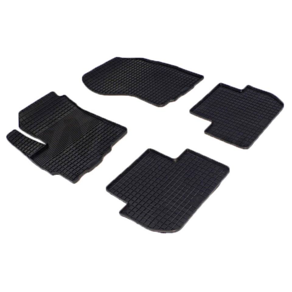 Rubber grid floor mats for Peugeot 4007 2006 2007 2008 2009 2010 2012 2014 Seintex 00560 rubber grid floor mats for honda accord viii 2008 2009 2010 2011 2012 seintex 00758