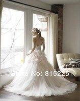 принцесса свадебное платье свадебное платье королевский императрица бальное платье милая молния назад аппликация атласный корсет тюль часовня поезд