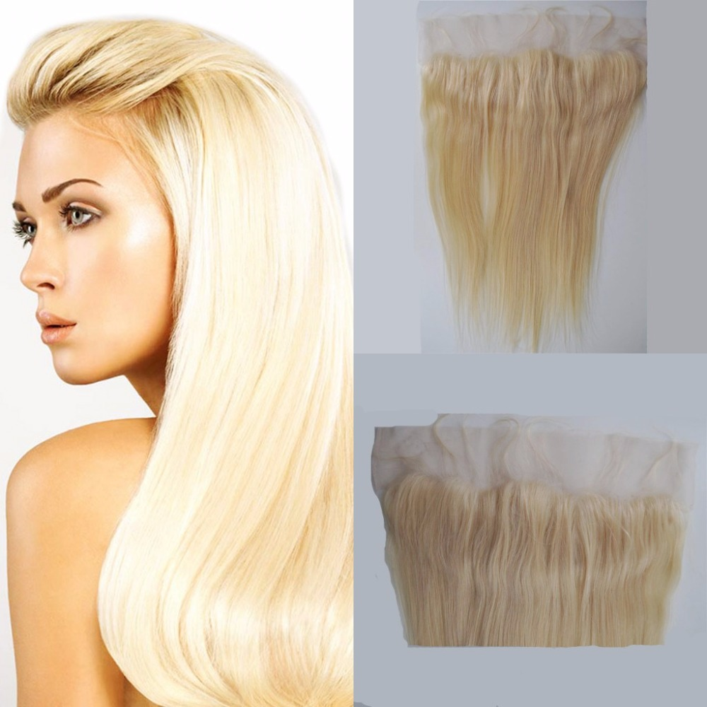 #613 blonde 13x4 ear to ear lace frontal closure virgin straight malaysian human hair lace frontals with baby hair